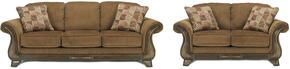 Matilda Collection MI-9918SL-MOCH 2-Piece Living Room Set with Sofa and Loveseat in Mocha