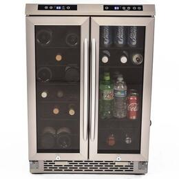 wbv19dz avanti 19 bottle french door wine cooler with electronic display elegant lighting dual purpose slide out wire shelves autolock controls