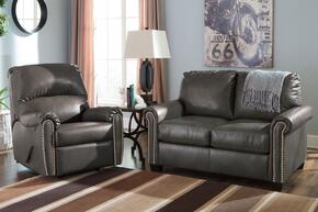Arabella Collection MI-5494RRTSB-SLAT 2-Piece Living Room Set with Rocker Recliner and Twin Sofa Sleeper in Slate
