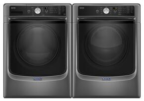 "Metallic Slate Front Load Laundry Pair with MHW5500FC 27"" Washer and MED5500FC 27"" Electric Dryer"