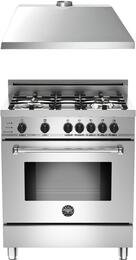 "2-Piece Stainless Steel Kitchen Package with MAS304DFSXTLP 30"" Liquid Propane Dual-Fuel Range and KU30PRO1XV 30"" 400 CFM Range Hood"