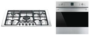 "2-Piece Kitchen Package With PGFU30X 30"" Gas Cooktop and SF399XU 24"" Electric Single Wall Oven in Stainless Steel"