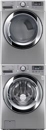 Graphite Steel Front Load  Laundry Pair with WM3670HVA 27
