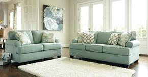 Nicholas Collection MI-2589QSSL-SEAF 2-Piece Living Room Set with Queen Sofa Sleeper and Loveseat in Seafoam