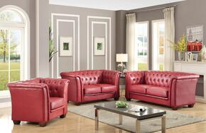 G329SET 3 PC Living Room Set with Sofa + Loveseat +  Armchair in Red Color