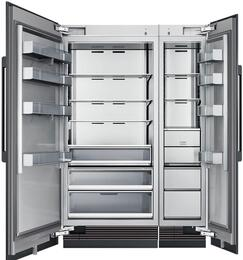 "54"" Panel Ready Side-by-Side Column Refrigerator Set with DRZ18980RAP 18"" Right Hinge Freezer, DRR36980LAP 36"" Left Hinge Refrigerator, and Installation Kit"