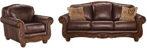 Mellwood Collection 64605SC 2-Piece Living Room Set with Sofa and Living Room Chair in Walnut