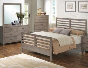 G1205CQB2DM 3 Piece Set including Queen Bed, dresser and Mirror in Gray