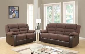 U98243D128CHOCOLATEPURSRLS 2 Piece Set including  Reclining Sofa and Loveseat  in Chocolate PU