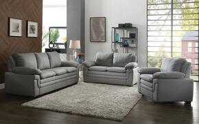 G271SET 3 PC Living Room Set with Sofa + Loveseat + Armchair in Grey Color