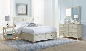 Avignon Youth Collection 1617QPBDMN 4-Piece Bedroom Set with Queen Storage Bed, Dresser, Mirror and Nightstand in Ivory