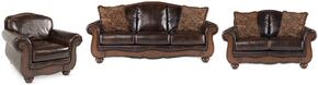 Barcelona Collection 55300SLC 3-Piece Living Room Set with Sofa, Loveseat and Chair in Antique