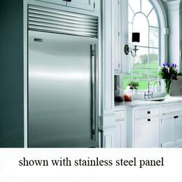 (Flush Inset) 2 Door Panel Set with Tubular Handles, in Stainless Steel