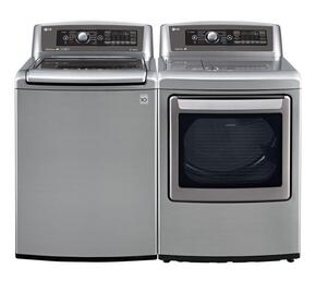 Graphite Steel Top Load Laundry Pair with WT5680HVA 27