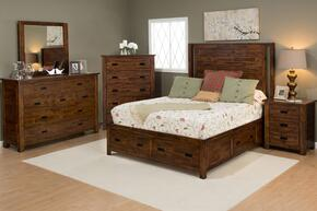 Coolidge Corner Collection 1503KPBDMNC 5-Piece Bedroom Set with King Bed, Dresser, Mirror, Nightstand and Chest in Brown