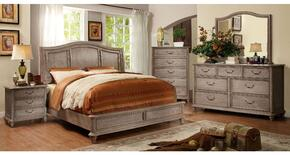 Belgrade II Collection CM7611KBDMCN 5-Piece Bedroom Set with King Bed, Dresser, Mirror, Chest, and Nightstand in Rustic Natural Tone Finish