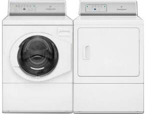 "White Laundry Pair with AFNE9RSP 27"" Front Load Washer and ADGE9RGS 27"" Gas Dryer"