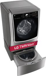 "WM9000HVA 29"" Front Load Washer and WD200CV 29"" SideKick Pedestal Washer"