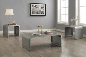 Ocassionals Table 704348CE 3 PC Living Room Table Sets with Coffee Table + 2 End Tables in Galvanized Finish