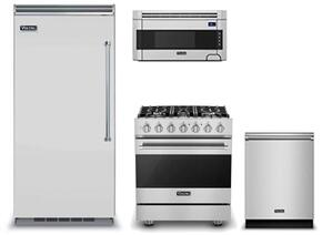 "4-Piece Kitchen Package with VCRB5363LSS 36"" Built In All Refrigerator, RVDR33025BSS 30"" Dual Fuel Freestanding Range, RVDW103SS 24"" Built In Dishwasher and  RVMH330SS 30"" Over The Range Microwave Oven in Stainless Steel"
