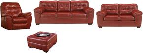 Alliston Collection 20100SLRO 4-Piece Living Room Set with Sofa, Loveseat, Recliner and Ottoman in Salsa