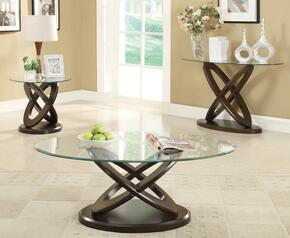 702788CES 3 PC Living Room Table Set with Coffee Table + Sofa Table + End Table in Espresso Finish