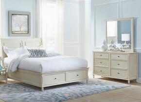 Avignon Youth Collection 1617QPBDM 3-Piece Bedroom Set with Queen Storage Bed, Dresser and Mirror in Ivory