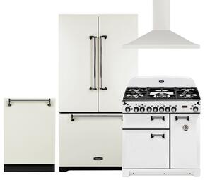 Legacy 4-Piece Vintage White Kitchen Package with AMLFDR23VWT 36