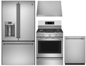 "4 Piece Stainless Steel Kitchen Package With CFE28TSHSS 36"" French Door Refrigerator, CGS990SETSS 30"" Slide In Gas Range, CV936MSS 30"" Range Hood and CDT835SSJSS 24"" Dishwasher For Free"