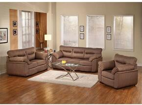 Avalon 51690SLC 3 PC Living Room Set with Sofa + Loveseat + Chair in Cocoa Color