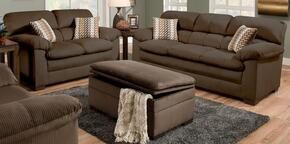 Lakewood 3685-0302095 3 Piece Set including  Sofa, Loveseat and Ottoman  with  Fabric Upholstery in Cappuccino