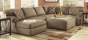 Cassidy Collection MI-2574-LAF2PCKIT-MOCH 2-piece Liiving Room Set with Left Arm Facing Chaise Sectional Sofa and Ottoman in Mocha