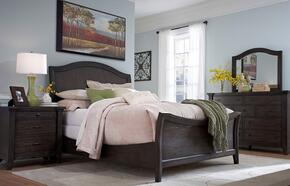 Attic Retreat Collection 5 Piece Bedroom Set With Queen Size Sleigh Bed + Nightstand + Dresser + Chest + Mirror: Weathered Mink