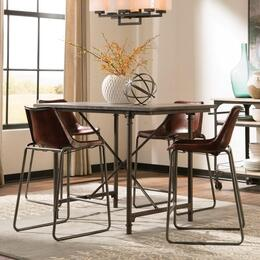 Antonelli Collection 106468CT 5 PC Dining Room Set with Counter Height Table + 4 Counter Height Chairs in Reddish Brown and Dark Bronze Finish