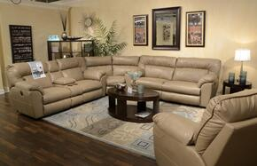 Nolan Collection 4041-8-9-1233-11/3033-11 3-Piece Sectional with Reclining Sofa, Wedge and Reclining Loveseat in Putty
