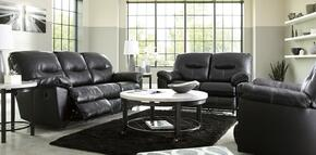 Maggie Collection MI-6841883PC-BLAC 3 PC Living Room Set with Reclining Sofa + Reclining Loveseat + Rocker Recliner in Black Color