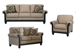 Alexandra Collection MI-1886SLC-TAUP 3-Piece Living Room Set with Sofa, Loveseat and Chair in Taupe Color