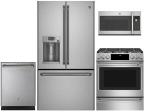 4-Piece Stainless Steel Kitchen Package with CYE22TSHSS 36
