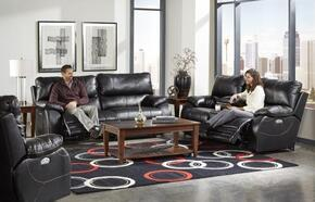 Sheridan Collection 64271-1152-08/1252-08SET 3 PC Living Room Set with Power Lay Flat Reclining Sofa + Loveseat + Recliner in Black Color