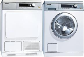 Lotus White Little Giant Series Front Load Laundry Pair with PW6068WH 24