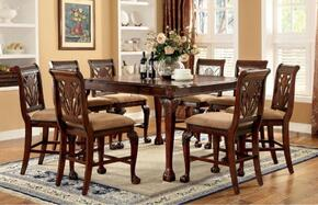 Petersburg II Collection CM3185PT8PC 9-Piece Dining Room Set with Rectangular Table and 8 Side Chairs in Cherry Finish