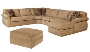Veronica 617RCHSS4PCO/8595-83/8593-99 2-Piece Living Room Set with 4PC Right Chaise Sectional and Storage Ottoman in 8595-83 Body with 8593-99 Pillows