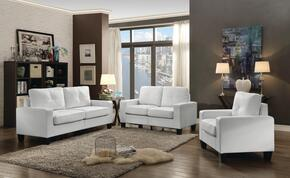 Newbury Collection G460AET 3 PC Living Room Set with Sofa + Loveseat + Armchair in White Color