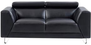 Global Furniture USA U8210PLUTOBLACKLOVESEAT