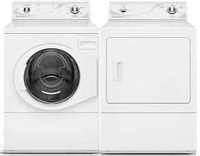"White Front Load Laundry Pair with AFN50RSP 27"" Washer and ADG3SRGS 27"" Gas Dryer"