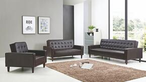 G800 Collection G845SET 3 PC Living Room Set with Sofa Bed + Loveseat Bed + Chair Bed in Cappuccino PU Leather