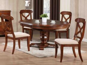 Andrews Collection DLU-ADW4866-C12-CT5PC 5 PC Dining Room Set with Dining Table + 4 Side Chairs