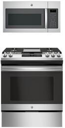 "2-Piece Kitchen Package With JGSS66SELSS 30"" Slide-in Electric Range and JVM6175SKSS30"" Over the Range Microwave Oven in Stainless Steel"