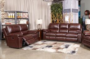 Transister 51302SL 2-Piece Living Room Set with Power Reclining Sofa and Power Reclining Loveseat in Coffee Color