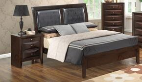 G1525ATBN 2 Piece Set including Twin Size Bed and Nightstand  in Cappuccino